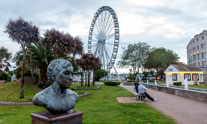 Torquay Agatha-Christie-Büste The English Riviera Wheel