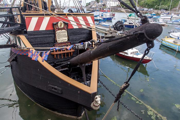 Brixham Harbour: Nachbau der Golden Hind (Golden Hinde)