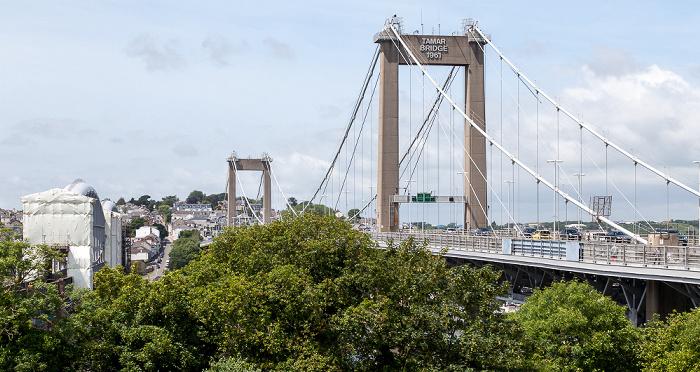 Plymouth Royal Albert Bridge (links) und Tamar Bridge