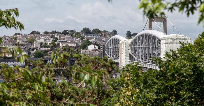 Plymouth Royal Albert Bridge, dahinter die Tamar Bridge