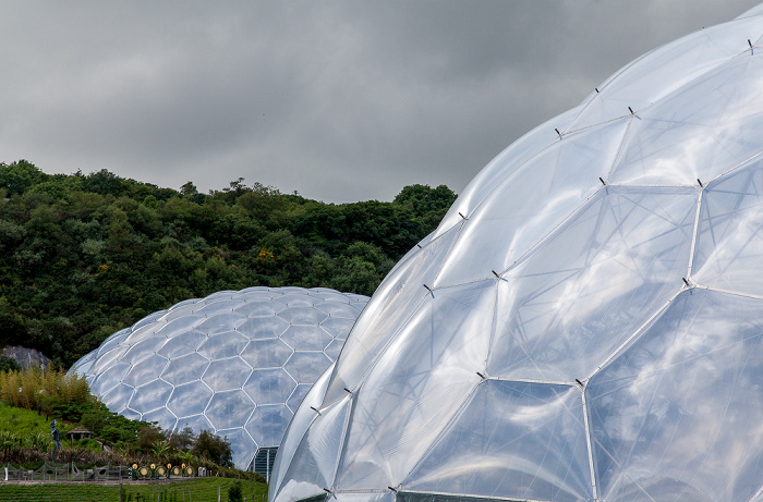St Blazey Eden Project: Rainforest Biome (links), Mediterranean Biome