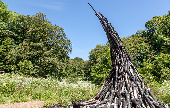 Mevagissey Lost Gardens of Heligan: Lost Valley - Charcoal Sculpture