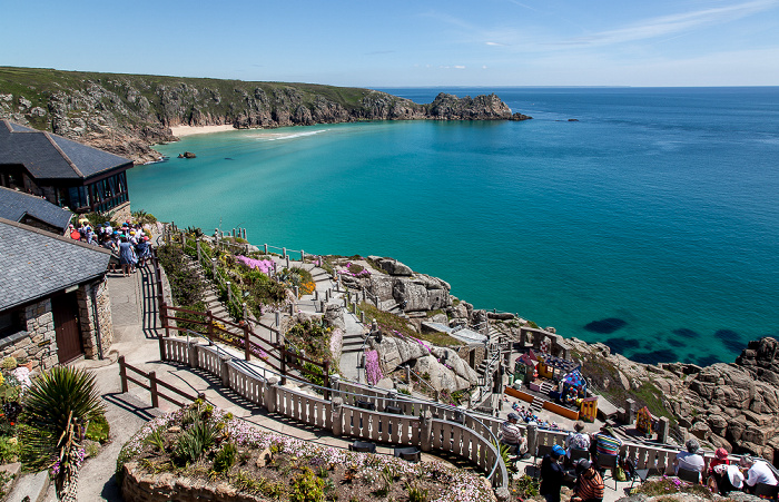 Minack Theatre, Porthcurno Bay, Ärmelkanal (English Channel)
