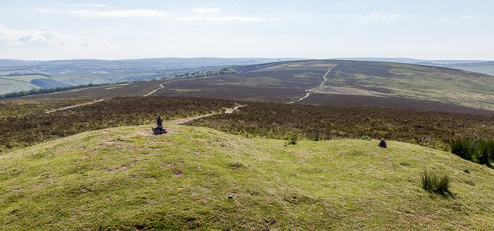 Exmoor National Park Dunkery Hill: Blick vom Dunkery Beacon
