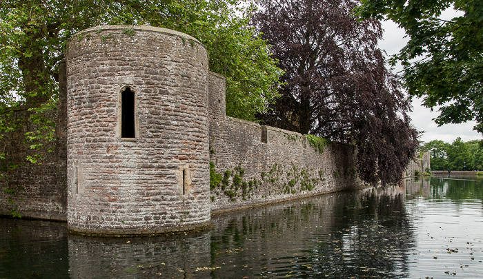 Wells Moat (Burggraben), Bishop's Palace