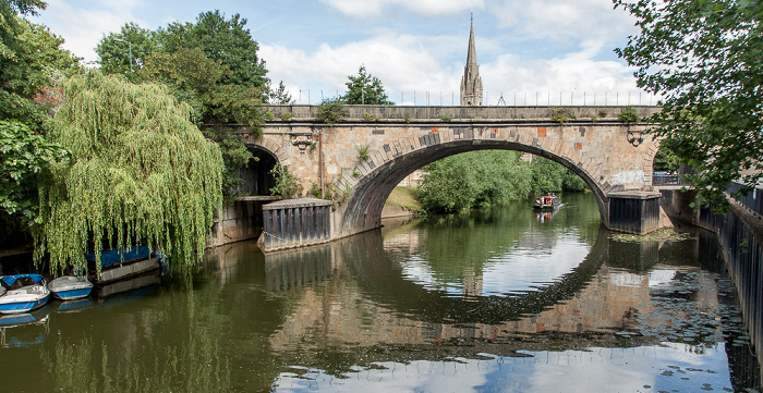Bath River Avon, St James's Railway Bridge St John's Church