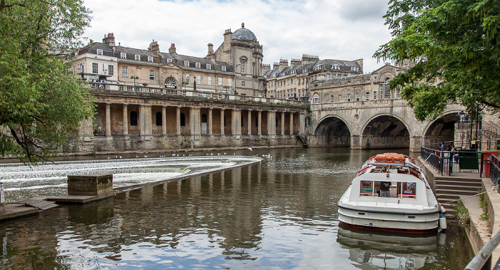 Bath River Avon, Grand Parade, Pulteney Bridge Guildhall Guildhall Market