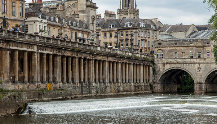Bath River Avon, Grand Parade, Pulteney Bridge