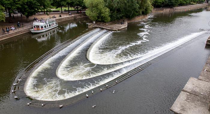 Bath Blick von der Grand Parade: River Avon