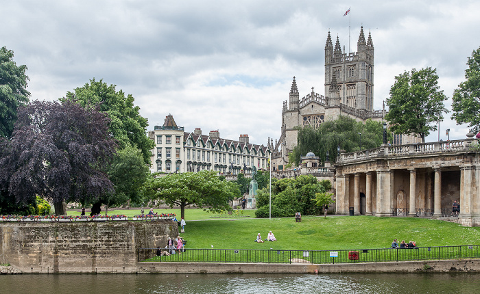 Bath Abbey Parade Gardens River Avon