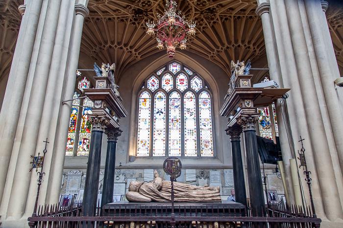 Bath Abbey: Grab von James Montague (Bischof von Bath und Wells 1608-1616)