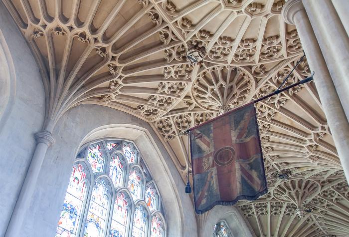 Bath Abbey: Seitenschiff / Gewölbe