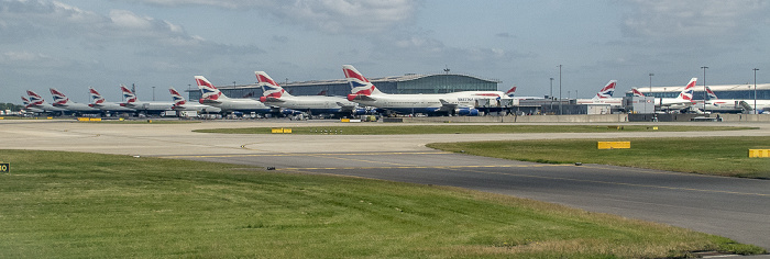 London Heathrow Airport: Flugzeuge der British Airways