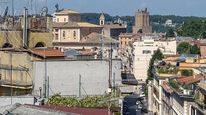 Rom Blick von der Dachterasse des Hotel Gallia Monumento Vittorio Emanuele II Torre delle Milizie