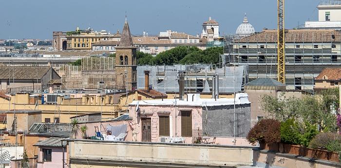 Rom Blick von der Dachterasse des Hotel Gallia Petersdom