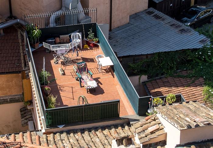 Rom Blick von der Dachterasse des Hotel Gallia