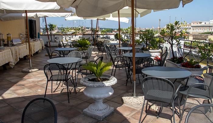 Rom Hotel Gallia: Dachterasse