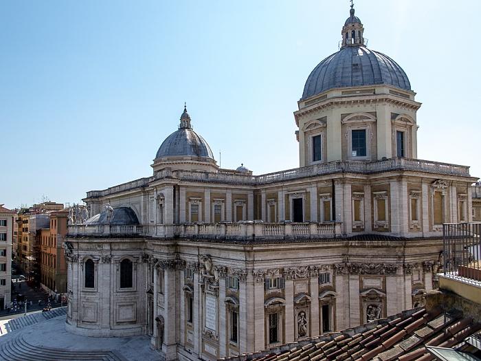 Rom Blick von der Dachterasse des Hotel Gallia: Basilica di Santa Maria Maggiore