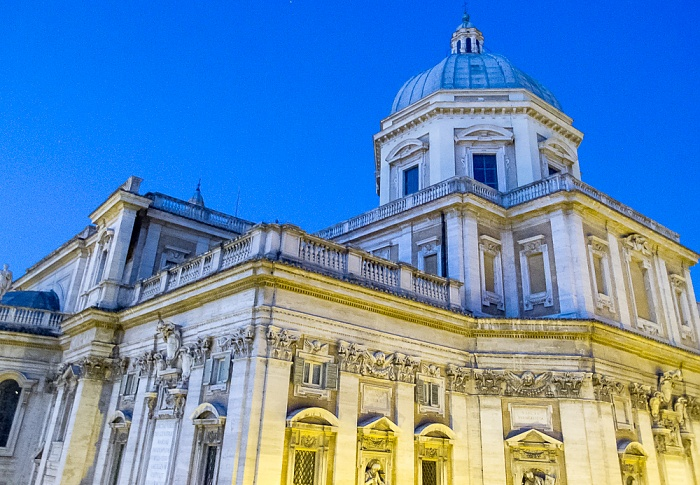 Rom Blick aus dem Hotel Gallia: Basilica di Santa Maria Maggiore