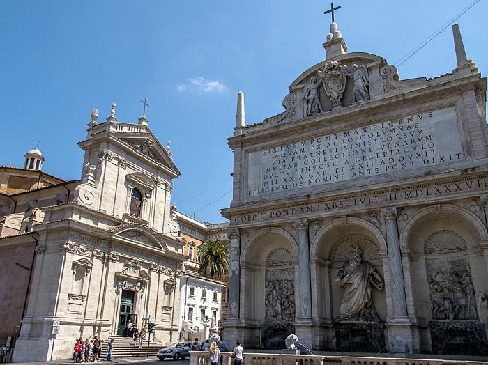 Sallustiano / Castro Pretorio: Chiesa di Santa Maria della Vittoria, rechts der Fontana dell'Acqua Felice (Mosesbrunnen) Rom