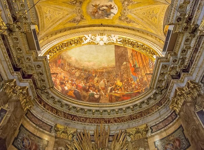 Chiesa di Santa Maria della Vittoria: Apsis-Deckenfresko Einzug des wundersamen Bildes in Prag Rom