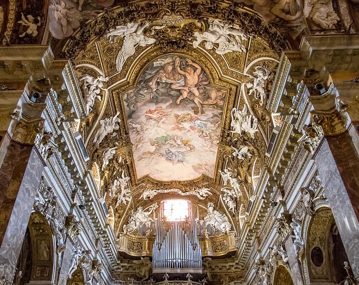 Chiesa di Santa Maria della Vittoria: Deckenfresko Triumph der Heiligen Jungfrau über die Häresie Rom