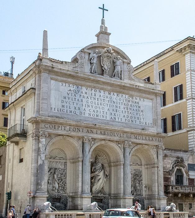 Rom Castro Pretorio: Fontana dell'Acqua Felice (Mosesbrunnen)