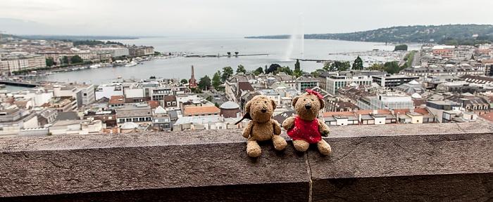 Genf Cathédrale Saint-Pierre (Kathedrale St. Peter): Teddy und Teddine Cité-Centre Genfer See Jet d'eau