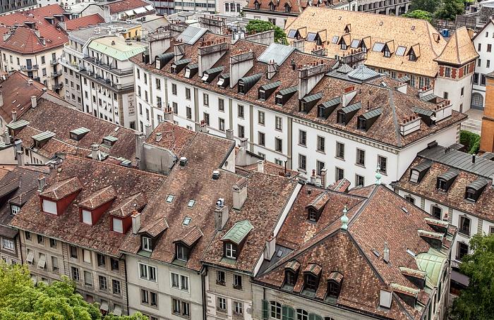 Genf Blick von der Cathédrale Saint-Pierre (Kathedrale St. Peter): Cité-Centre