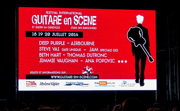 Stade des Burgondes (Festival Guitare en Scène) Saint-Julien-en-Genevois