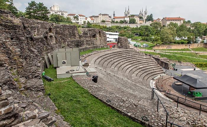 Fourvière: Odéon antique romain de Lugdunum Lyon