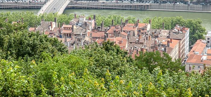 Blick von Fourvière: Vieux Lyon Pont Maréchal-Juin Saône