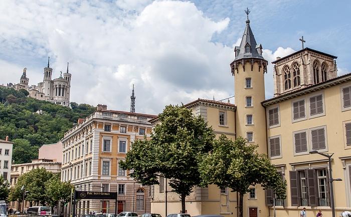 Vieux Lyon: Avenue Adolphe Max Basilique Notre-Dame de Fourvière Fourvière Tour métallique de Fourvière