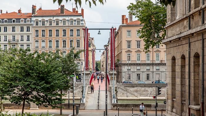 Vieux Lyon, Passerelle Paul Couturier über die Saône, Presqu'île (Halbinsel)