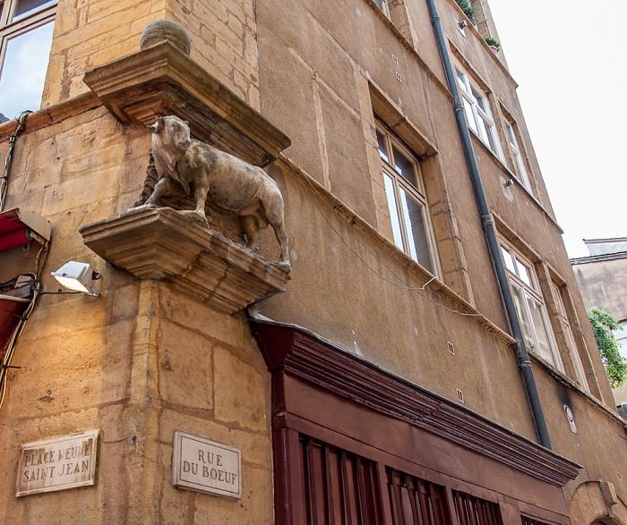 Vieux Lyon: Place Neuve Saint-Jean / Rue du Boeuf