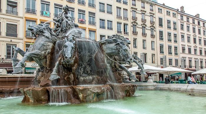 Lyon Presqu'île (Halbinsel): Place des Terreaux mit dem Fontaine Bartholdi