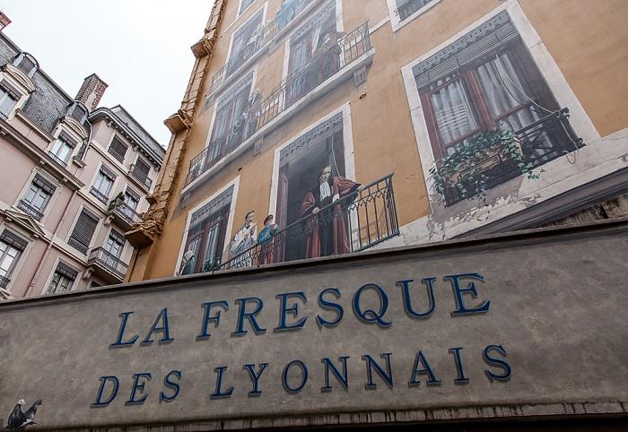 Presqu'île (Halbinsel): Fresque des Lyonnais Lyon