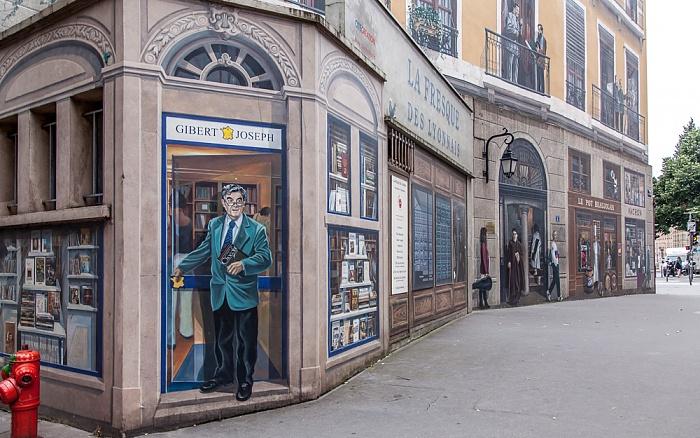Presqu'île (Halbinsel): Fresque des Lyonnais - Bernard Pivot