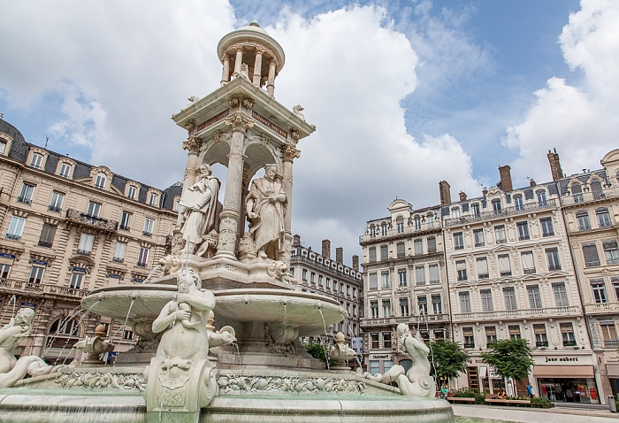 Lyon Presqu'île (Halbinsel): Place des Jacobins mit dem Fontaine des Jacobins