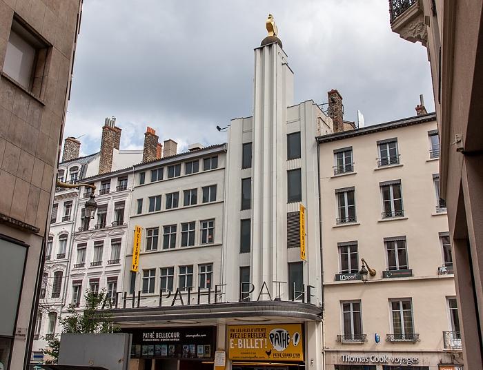 Presqu'île (Halbinsel): Rue de la République - Cinéma Pathé Bellecour Lyon