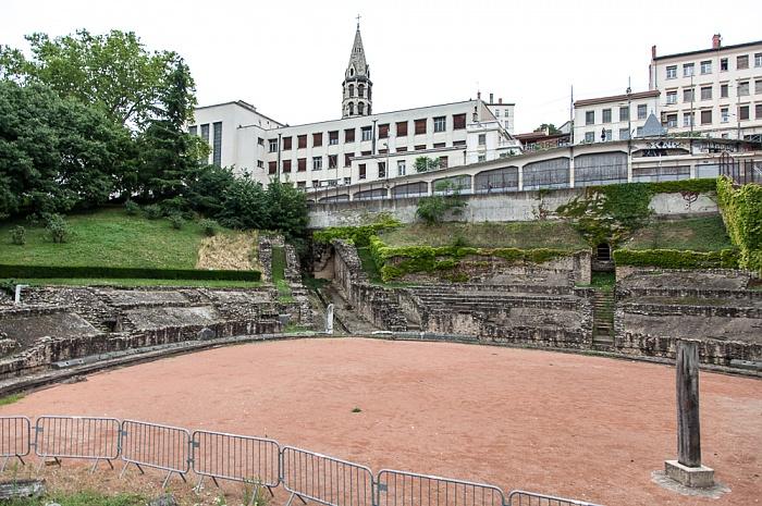 Lyon La Croix-Rousse: Amphithéâtre des Trois Gaules Église du Bon-Pasteur