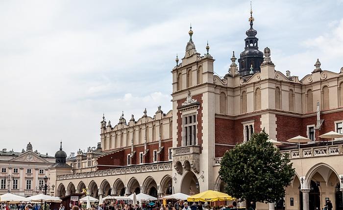 Stare Miasto: Hauptmarkt (Ring, Rynek Glówny) - Krakauer Tuchhallen (Sukiennice) Krakauer Rathausturm
