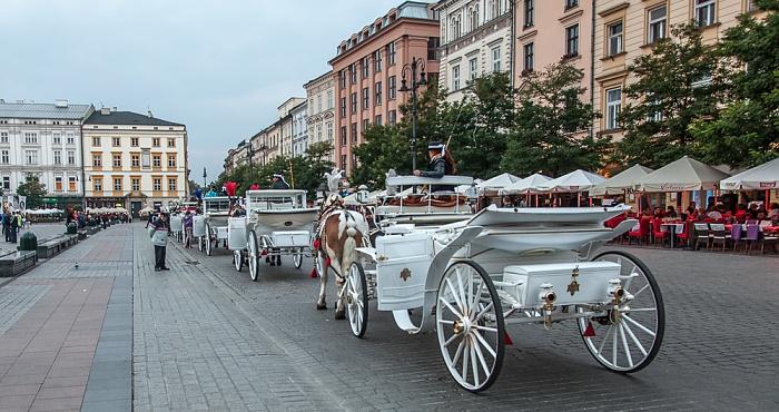 Krakau Stare Miasto: Hauptmarkt (Ring, Rynek Glówny) - Pferdekutschen