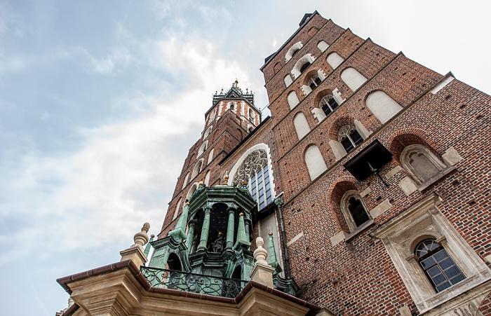 Krakau Stare Miasto: Hauptmarkt (Ring, Rynek Glówny) - Marienkirche