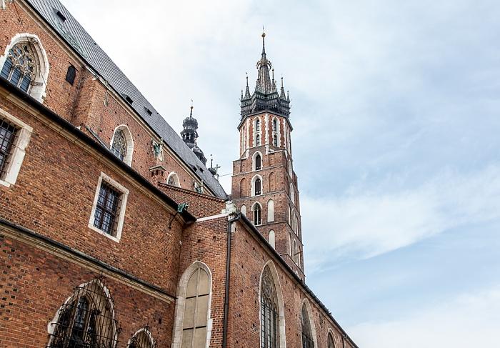 Krakau Stare Miasto: Plac Mariacki - Marienkirche
