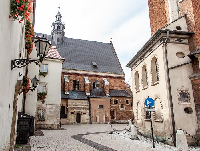 Krakau Stare Miasto: Plac Mariacki mit St.-Barbara-Kirche Marienkirche