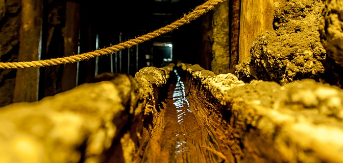 Salzbergwerk Wieliczka: Querstrecke Kunegunda - obere Sohle II, 91 m Tiefe