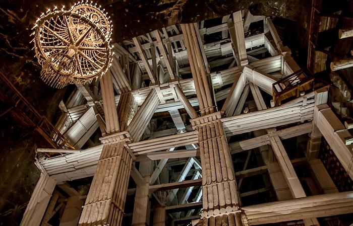 Salzbergwerk Wieliczka: Kammer Michalowice - untere Sohle II, 109 m Tiefe, 35 m hoch