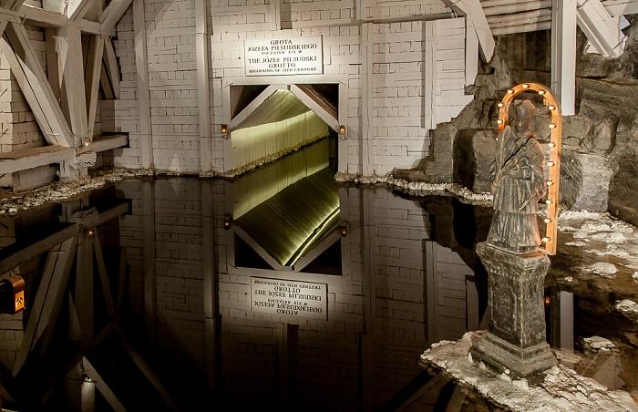 Salzbergwerk Wieliczka: Kammer des Jozef Pilsudski - Zwischensohle Kazanow, 120 m bis 131 m Tiefe