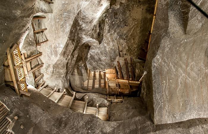 Salzbergwerk Wieliczka: Kammer des Stanislaw Staszic, Zwischensohle Kazanow, 125 m Tiefe, 36 m hoch